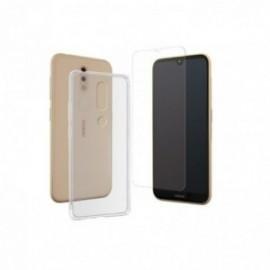 Pack coque souple Transparente + verre trempé pour Nokia 4.2