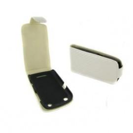 Housse Blackberry curve 9360 blanche aspect carbone