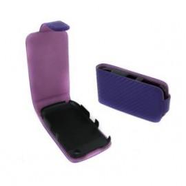 Etui Blackberry curve 9360 violet aspect carbone