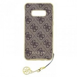 Coque pour Samsung S10 G973 Guess Charms 4G marron