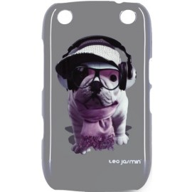 Coque BlackBerry Curve 9320 Teo Jasmin grise Groove