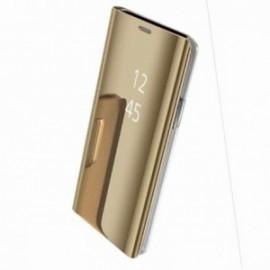 Etui dédié Xiaomi Redmi note 5 Folio miroir or