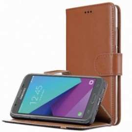 Etui pour Xiaomi Redmi Note 7 Folio Platinum marron