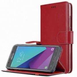 Etui pour Xiaomi Redmi Note 7 Folio Platinum rouge