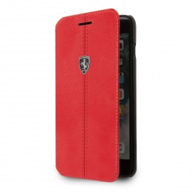 Etui iphone 6  / 6s  / 7 / 8 Ferrari folio Heritage cuir rouge