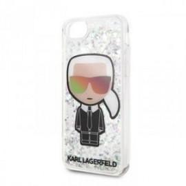 Coque pour Iphone 7 / 8  Karl Lagerfeld Iconic Paillette noir