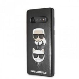 Coque pour Samsung S10 Plus Karl Lagerfeld & Choupette Iconic noir