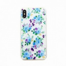 Coque pour Iphone XS Max 6,5 gel Fleurs bleues