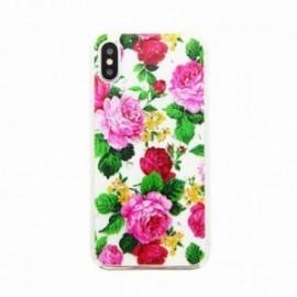 Coque pour Iphone X/XS gel Fleurs roses