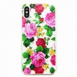 Coque pour Iphone XS Max 6,5 gel Fleurs roses