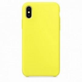 Coque pour Iphone X/XS rubber sable jaune