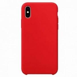 Coque pour Iphone X/XS rubber sable rouge