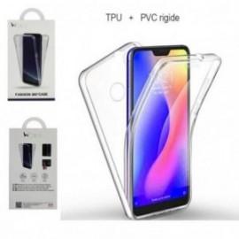Protection complète 360 PVC rigide + TPU souple pour Huawei Y7 2019