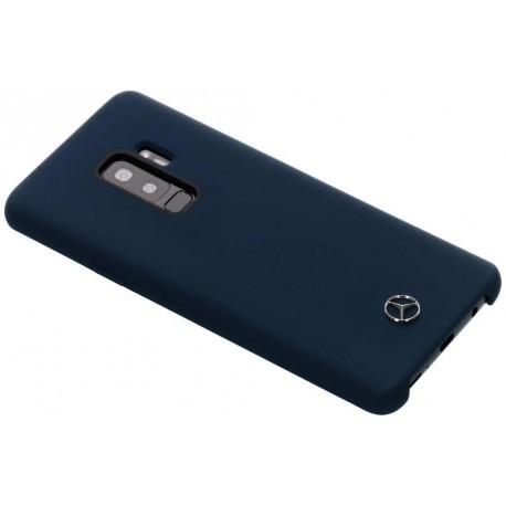 Coque Samsung Galaxy S9 plus Mercedes silicone bleu nuit soft touch