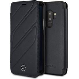 Etui Samsung S9 Plus Mercedes Benz Organic II Folio cuir noir