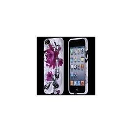 Coque iPod Touch 5 fleurs violettes