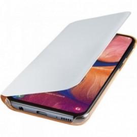 Etui folio Samsung Galaxy A20e A202 blanc