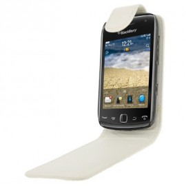 Etui Blackberry curve 9380 simili blanc