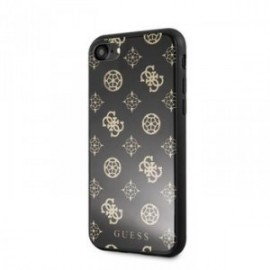 Coque Guess Layer Glitter Peony pour iPhone 7/8 noir