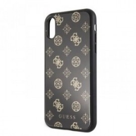 Coque Guess Layer Glitter Peony pour iPhone XR 6,1 noir
