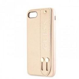 Coque pour Iphone 7/8 Guess Saffiano Strap or