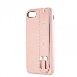 Coque pour Iphone 7/8 Guess Saffiano Strap rose