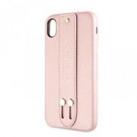 Coque pour Iphone XR 6,1 Guess Saffiano Strap rose