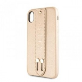 Coque pour Iphone Xs Max 6,5 Guess Saffiano Strap or