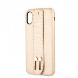 Coque pour Iphone X/XS Guess Saffiano Strap or