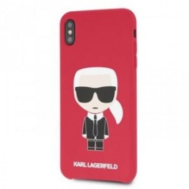 Coque pour Iphone XS Max 6,5 Karl Lagerfeld Full body Iconic rouge
