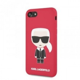 Coque pour Iphone 7/8 Karl Lagerfeld Full body Iconic rouge