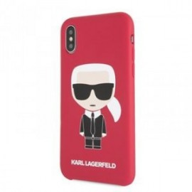 Coque pour Iphone X/XS Karl Lagerfeld Full body Iconic rouge