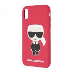 Coque pour Iphone XR 6,1 Karl Lagerfeld Full body Iconic rouge