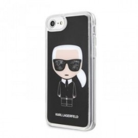 Coque pour Iphone 7/8 Karl Lagerfeld Iconic glitter noir