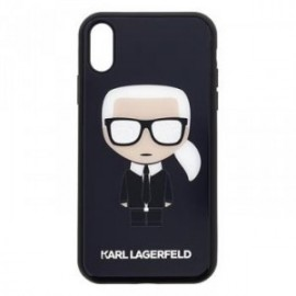 Coque pour Iphone XR 6,1 Karl Lagerfeld Full body Iconic noir
