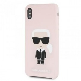 Coque pour Iphone XS Max 6,5 Karl Lagerfeld Full body Iconic rose