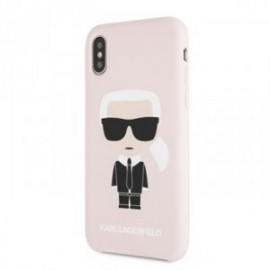 Coque pour Iphone X/XS Karl Lagerfeld Full body Iconic rose