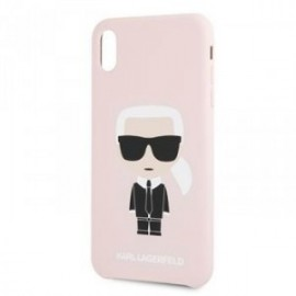 Coque pour Iphone XR 6,1 Karl Lagerfeld Full body Iconic rose