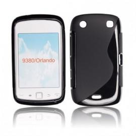Coque Blackberry 9380 bimatière noire