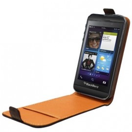 Etui BlackBerry Z10 noir cuir