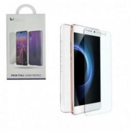 Pack pour Xiaomi redmi note 7 coque transparente + verre trempé