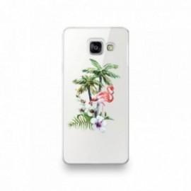 Coque pour Samsung A90 motif Flamant Rose Tropical