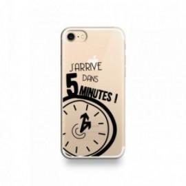 Coque pour Samsung A90 motif '' J'arrive dans 5 minutes ''