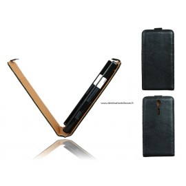Etui Sony Xperia Sola MT27i cuir noir