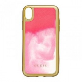 Coque pour iPhone XR Guess Glow in The Dark PC/TPU Kryt or/rose