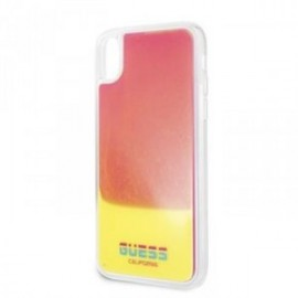 Coque pour iPhone X/XS Guess Glow in The Dark PC/TPU Kryt Sand/rose