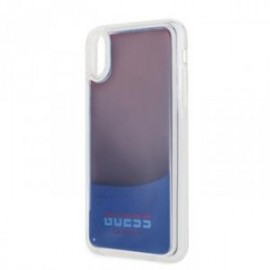 Coque pour iPhone X/XS Guess Glow in The Dark PC/TPU Kryt Sand/rouge