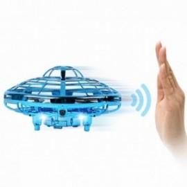 FLY & BALL Mini drone avec capteur rechargeable bleu