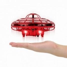 FLY & BALL Mini drone avec capteur rechargeable rouge