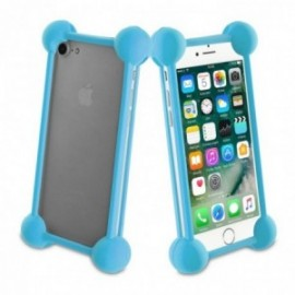Muvit Life - Coque bumper universelle BLUE TAILLE 5''